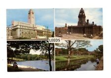 Yorkshire - Leeds - Multiview Postcard Franked 1968