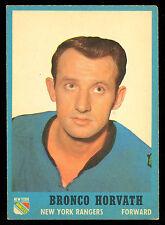 1962-63 TOPPS HOCKEY #63 BRONCO HORVATH EX-NM NEW YORK N Y RANGERS card