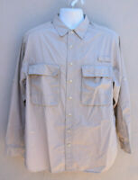 ExOfficio Insect Shield Button Up Long Sleeve Shirt Men's Size medium Lt Khaki
