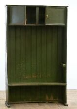 More details for antique 18th century painted elm bacon settle in the original green paint