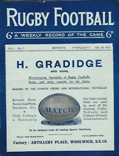 Vol 1 No 7 20 Oct 1923 RUGBY FOOTBALL MAGAZINE