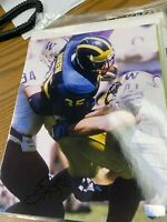 BJ Askew signed 8x10 photo Michigan Wolverines football legend with COA
