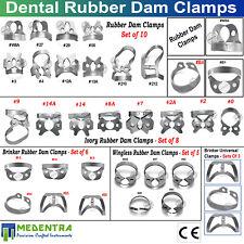 Molars Endo Rubber Dam Wingless ivory Clamps Dentist Tissue Restorative Tools CE