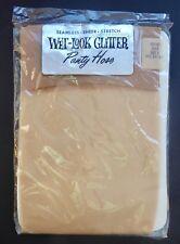 "VINTAGE 60's Wet-Look Gold GLITTER PANTYHOSE Size 3 (5' 4"" - 5' 6"") SEALED NOS"
