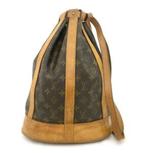 Rare Authentic Louis Vuitton Monogram Randonnee PM Shoulder Bag Backpack /71039