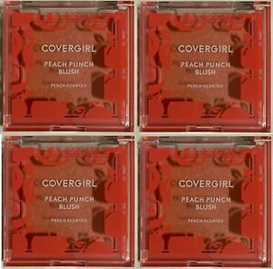 Covergirl Peach Punch Blush Scented 130   Lot of 4