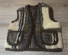 100% MERINO WOOL Baby Boy Girl Kids Gilet Body Warmer Vest 2-3 YEARS (v12) S