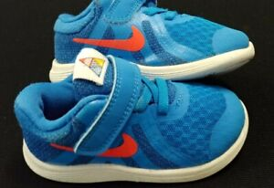 Nike Toddler Kids Shoes Revolution (TD) (Infant/Toddler) BV6285-400 Blue/Crimso