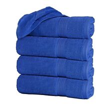 """Large Bath Towels Pack of 4 100% Cotton 27""""x55"""" Highly Absorbent Soft Multicolor"""