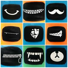 Pick Your Face Mask Mouth Cover KPOP EXO BTS Ayo and Teo Kawaii Reusable Age 10+