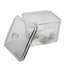 Acrylic Storage Cotton Ball Swab Pad Organizer Holder Bathroom Container Clear