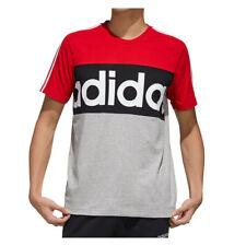 Nuevo FL0294 para hombre Adidas En Colores Vivos T SHIRT TEE Genuino 100% algodón 3 Rayas - 2XL