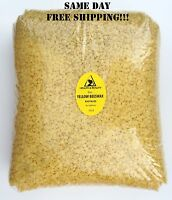 YELLOW BEESWAX BEES WAX ORGANIC PASTILLES BEADS PREMIUM 100% PURE 10 LB
