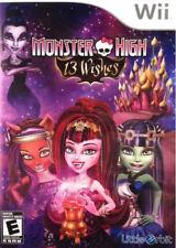 Monster High: 13 Wishes WII New Nintendo Wii, Nintendo Wii