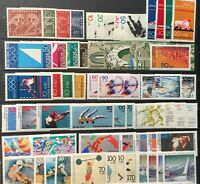 Germany Collection BRD,BERLIN, Lot of 80 Sport Stamps  MNH