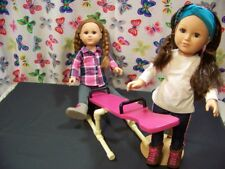 """TEETER-TOTTER  fits American Girl & all 18"""" dolls play set Gymnastic set"""