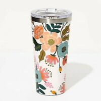 Tumbler, thermos - White Lively Floral ,16 oz. (473 ml) NEW, By Corkcicle