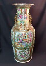 art Chine 19èm exceptionnel  vase 64cm 6.5kg porcelaine fine chinoise Canton