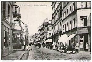 CPA 76 - ELBEUF - FORTE ANIMATION RUE DE LA BARRIERE - ATTELAGES, PERSONNAGES
