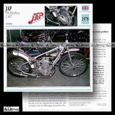 #042.11 JAP 500 SPEEDWAY 1978 Fiche Moto Racing Bike Motorcycle Card