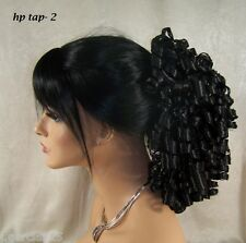 USA Dark Brown # 2 ponytail piece clip pony tail hair extension fall pageant Tap
