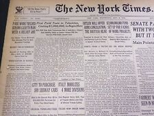 1935 MAY 8 NEW YORK TIMES - FIRST FIELD TESTS IN TELEVISION BEGIN HERE - NT 4879