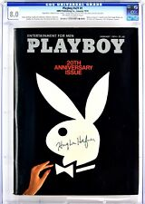 Playboy January 1974 | Signed by Hugh Hefner | 20th Anniversary Issue | CGC 8.0