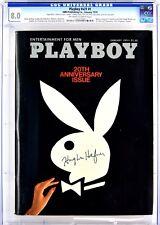 Playboy January 1974 | Signed by Hugh Hefner | CGC 8.0  | JSA LOA