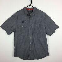 Harley Davidson H-D Genuine Motorcycles Short Sleeve Casual Shirts Men's Size XL