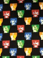 RPF513 The Beatles Band Warhol Art Style Retro Faces Music Cotton Quilt Fabric
