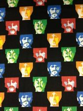 RPA398 The Beatles Band Warhol Art Style Retro Music Cotton Fabric Quilt Fabric