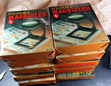 """10 Large Folding Hobby 2 X Magnifier - Folding Book Magnifier 4"""" Viewing Area"""