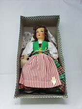 "Vintage Eros Italian 15"" Souvenir Doll Florence Dutch Costume 1950s"