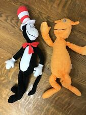 "Kohls Cares Cat In The Hat & The Foot Book Plush 20"" 21"" Lot Toy Dr. Seuss"