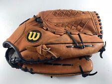 """New listing Wilson Elite RHT Softball Glove 14"""" Oversized Pocket Top Grain Steerhide A2485"""