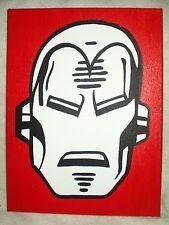 Toile Peinture super-héros Iron Man rouge art 16x12 pouces acrylique