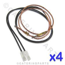 4er Packung x Electrolux 0c3162 Gas Fritteusen Thermoelement mit Schalter Drähte