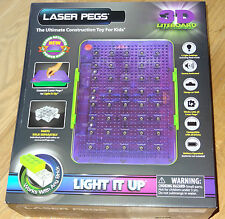 3D Liteboard Sound Activated Power Base & Storage Bin Laser Pegs Lightboard