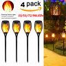 1-4Pack LED Solar Power Torch Light Flickering Flame Garden Waterproof Yard Lamp