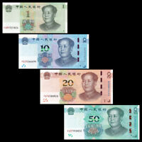 China Set 4 PCS, 1 10 20 50 Yuan, 2019,  P- New, UNC, New Issue, Banknotes