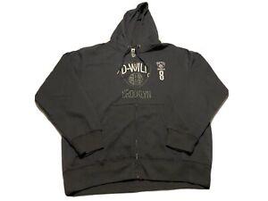 Majestic NBA Brooklyn Nets Men's Deron Williams 8 Size L Full Zip Hoodie