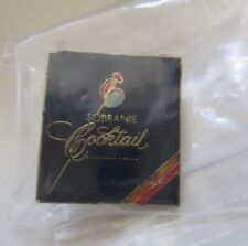 Rare SOBRANIE Cocktail Cigarettes BLACK RUSSIAN badge tobacco Tie Hat Lapel Pin