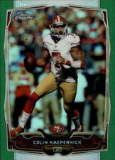 2014 Topps Chrome #56 Colin Kaepernick Green Refractor - NM-MT
