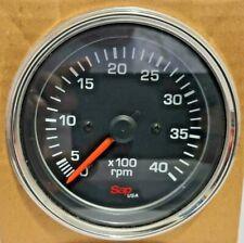 Tachometer Electric 0 4000 Rpm 1224 Volt 80mm For Trucks Boats Generators New