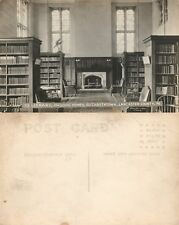 Elizabethtown Lancaster Masonic Homes Library Antique Real Photo Postcard Rppc