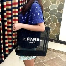 "CHANEL Beauty GIFT BLACK MESH ~ Shopper Bag Eco Tote Bag New ""Free Post W/ TRACK"