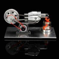 Mini hot air stirling engine model generator motor steam power educational toy