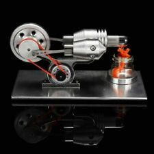 Mini hot air stirling engine model generator motor steam power educational toy
