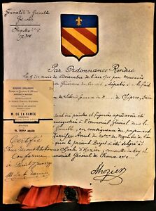 PROOF OF NOBILITY PARCHMENT 1701 Awarded by Charles d'Hozier Advisor to the King