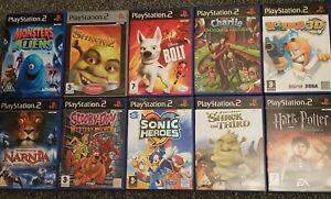 PS2 Kids Games X 10 Playstation 2 PAL Bundle Joblot Sonic Heroes Shrek 2